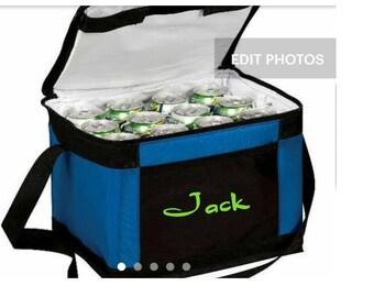 Cooler bag monogrammed, monogram cooler bag, cooler monogrammed, 12 pack cooler, 6 pack cooler bag, large warmer bag, Lunch bag, insulated
