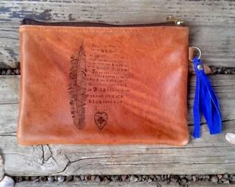 Leather pouch- Teach me