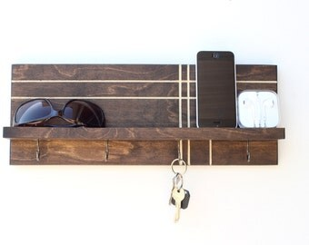 Key Holder for Wall, Key Rack, Key Hook, Wall Key Holder, Wall Shelf With Hooks, Entryway Storage, Entryway Organizer, Wall Organizer Shelf