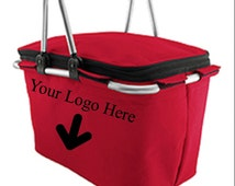Monogrammed Logoed OAD Collapsible Picnic Basket Market Tote FREE SHIPPING!