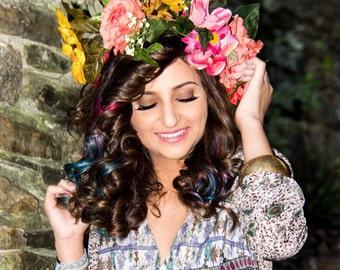Forest Sprite Flower Crown Headband (full)