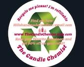 6oz Candle refill- zero waste, green, eco-friendly, 50% off orginial price