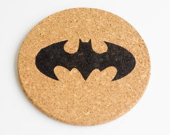 Classic Batman Symbol Cork Trivet Hot Pad