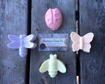 Bug Soap Kids Soap Gift Idea lady bug dragonfly bee butterfly soap sampler goats milk
