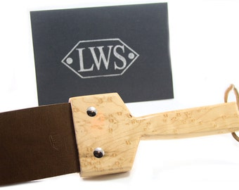 BDSM Birds Eye Maple and Leather Slapper Spanker