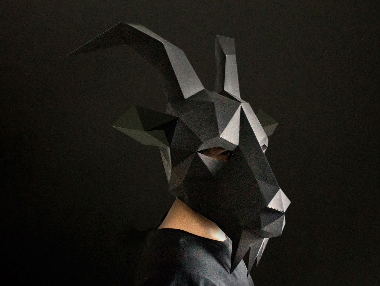 Black Phillip Goat Mask Paper Mask Animal Mask DIY Animal
