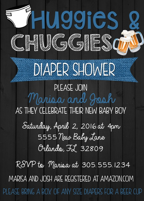 Huggies And Chuggies Baby Shower Invitation By