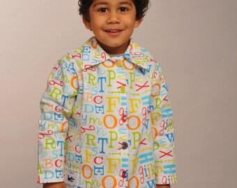 """Printed schoolboy apron """"alphabet"""""""