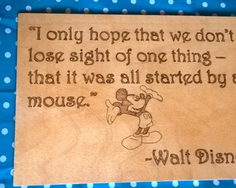 Walt Disney Mickey Mouse Quote A4