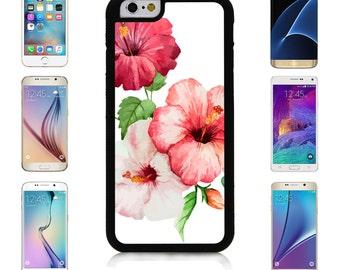 Cover Case for Apple iPhone 7 7 Plus 6 6S Plus Samsung Galaxy S7 Edge S6 Plus Note 5 6 7 8 9 10 att sprint verizon Hibiscus Flower