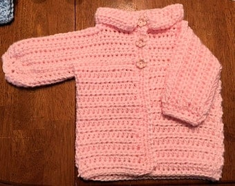 Pink Baby Sweater - 6 Months