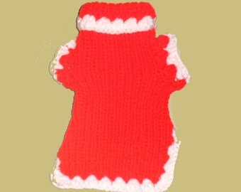 CAT SWEATER. Red and White.