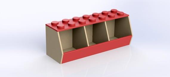 Diy plans lego bin storage plans inch and cm - Boite de rangement pour lego ...