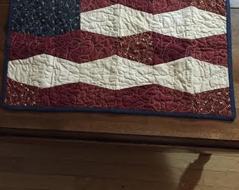 American Flag Quilt Wall hanging or Table runner