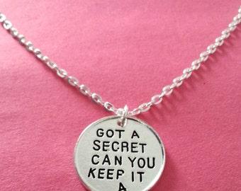 Pretty Little Liars Necklace Got A Secret Can You Keep It letters Silver Color Round Pendant Necklace For Women/Men