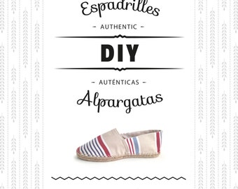 Pattern + detailed instructions to make your own espadrilles. Learn how to make DIY shoes from scratch. With step-by-step pictures!