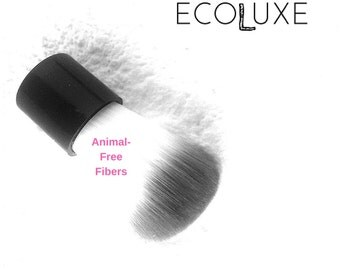 Mineral Makeup Brush- Cruelty-Free skincare- Kabuki Brush/ highlighter makeup, finishing powder, translucent, bronzer/ vegan cosmetics
