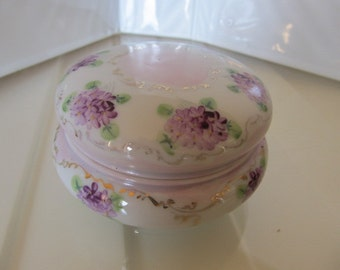 Hand Painted Dresser Jar - Numbered