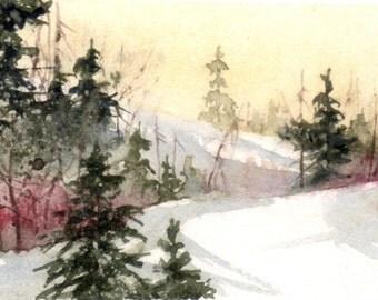 No. 23, Christmas card, Christmas card, watercolor, watercolor