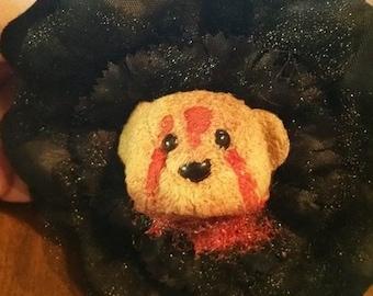 Severed Teddy Head Hair Flower