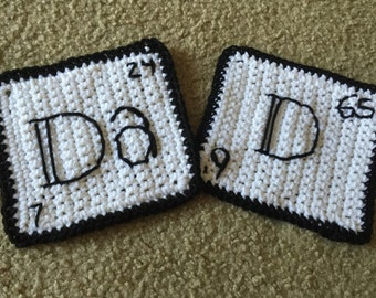 Science Dad - pot holders or wall hangs