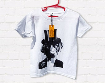 Hand screen printed 'Top Dog' Toddler T-shirt