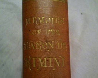 1880 2nd edition of Memoirs of the Baron Dr Rimini printed in london