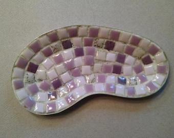 Mid Century Mosaic Kidney Shaped Dish/Tray