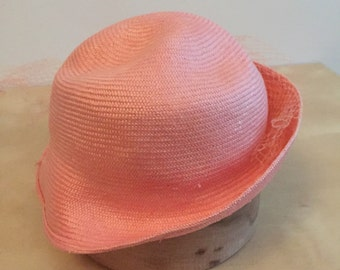 Pink Vintage Summer Straw Hat