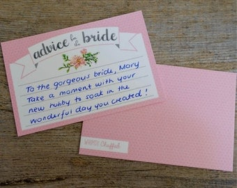 10x Advice for the Bride Cards