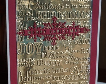 Christmas Sentiments Card