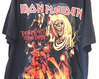 Iron Maiden Official Licensed t-shirts Large The number of the beast