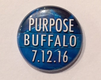 Purpose Date Button 1 inch Button Pin Badge, Magnet, Zipper Pull - Fandom Pins