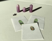 Miniature Dollhouse 1:12th Scale DIY Bottles Kit Purple Swirl