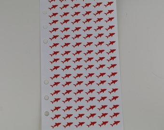 Shark Planner Stickers | Period Tracker | 6 hole punched perfect for personal planners