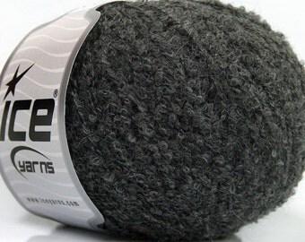 ICE Yarns Winter Grey one skein