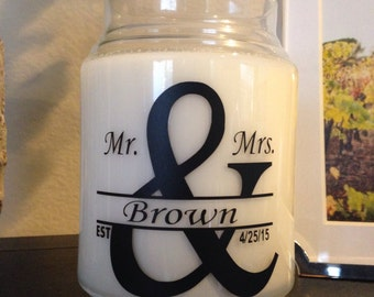 Custom Mr. and Mrs. Candle