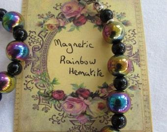 Magical Rainbow Hematite necklace