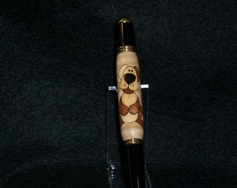 Handcrafted Doggie Inlay Pen