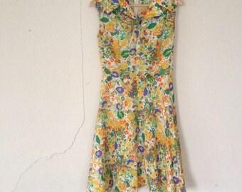 1960 flower power dress