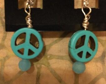 Peace sign earrings
