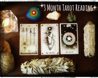 3 Month Tarot Reading Divination Guidance Wisdom Spirituality