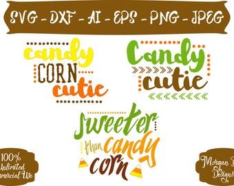 Candy Corn Cutie SVG - Halloween SVG -  Candy Corn SVG - Fall Clip Art - Files for Silhouette Studio/Cricut Design Space