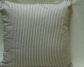 20x20 ticking pillow