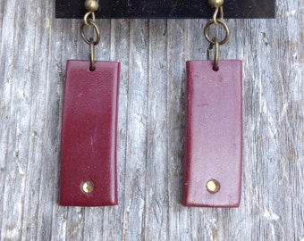 Trendy and Edgy Polymer Clay Dangle Earrings