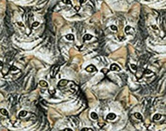 TABBY CATS FABRIC-Cats on Fabric