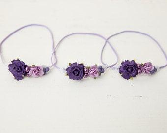 Lovely Lavender Newborn Headband