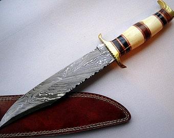 NS 4- Handmade Damascus Steel Dagger Knife