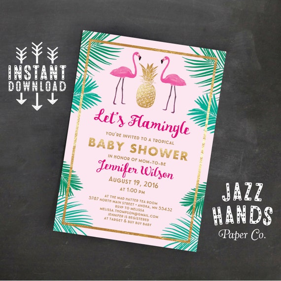flamingo baby shower invitations let 39 s flamingle baby shower