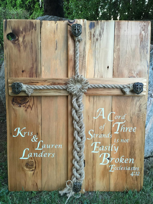Personalized Rustic Wedding Alternative Unity Ceremony